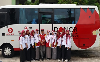 SMAN 5 Bukittinggi Menggelar Kegiatan Donor Darah