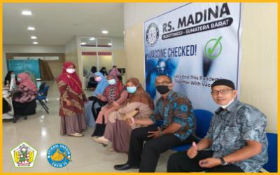 Pelaksanaan Kegiatan Vaksinasi Covid-19 SMA Negeri 5 Bukittinggi